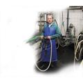 Obrazek Fartuch - np. do dojenia i czyszczenia - 100 x 125 cm - niebieski